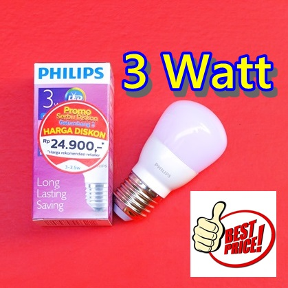 LED PHILIPS 3 Watt Toko Online LAMPU LED